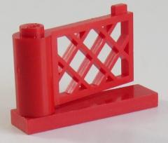 LEGO Zaun / Fence - Pforte / Gate 1 x 4 x 2, rot # 3186 u. # 3187