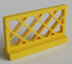 LEGO - Zaun / Fence 1 x 4 x 2 (2 Stück), gelb # 3185
