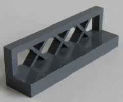 LEGO - Zaun / Fence 1 x 4 x 1 (2 Stück), dunkel blaugrau # 3633