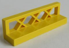 LEGO - Zaun / Fence 1 x 4 x 1 (4 Stück), gelb # 3633