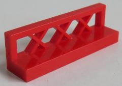 LEGO - Zaun / Fence 1 x 4 x 1 (2 Stück), rot # 3633