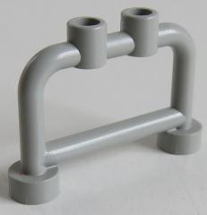 LEGO Stab / Bar 1 x 4 x 2 (4 Stück), Geländer / Absperrung / Halter, hellgrau # 4083