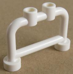 LEGO Stab / Bar 1 x 4 x 2 (4 Stück), Geländer / Absperrung / Halter, weiß # 4083