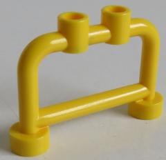 LEGO Stab / Bar 1 x 4 x 2 (4 Stück), Geländer / Absperrung / Halter, gelb # 4083