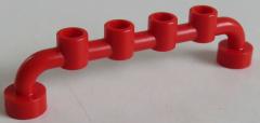 LEGO Stab / Bar 1 x 6 mit geschl. Noppen (4 Stück), Absperrung, rot # 6140