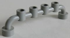 LEGO Stab / Bar 1 x 6 mit geschl. Noppen (4 Stück), Absperrung, hellgrau # 6140