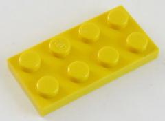 LEGO - Platte / Plate 2 x 4 (10 Stück), gelb # 3020